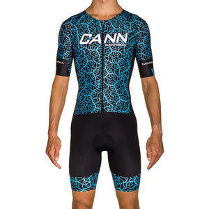 MAYHEM BLUE PRO ELITE SLEEVED TRI SUIT
