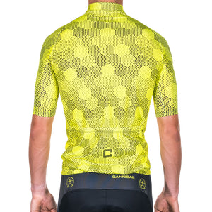 HEXHAM YELLOW RACE CYCLE JERSEY