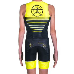 JUNIOR TRI SUIT SHUTTER YELLOW