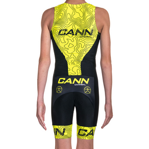 JUNIOR TRI SUIT YELLOW SYNOPTIC