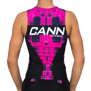 WOMEN'S CANN ULTRA TRI TOP PINK THATCH
