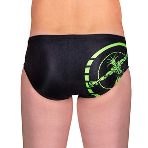 BOYS STAMP SWIMMER FLUORO GREEN