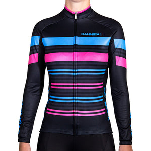 WOMEN'S CANDY STRIPE WINTER LONG SLEEVE JERSEY