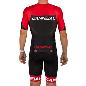 CANN Elite Sleeved Tri Suit Red