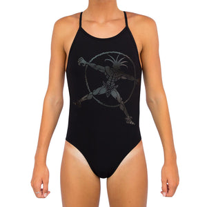 GIRLS AQUA FAST RACER ONE PIECE