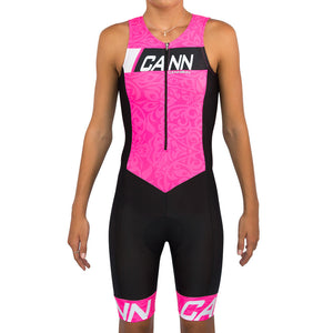 CANN JUNIOR TRI SUIT FLUORO PINK