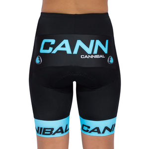 WOMEN'S CANNIBAL FLUORO BLUE CYCLE SHORTS