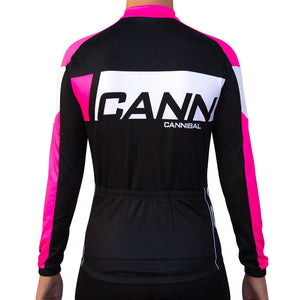 CANN Winter Long Sleeve Jersey Ladies Black Fluoro Pink