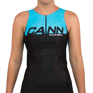 WOMENS CANN ULTRA TRI TOP FLUORO BLUE