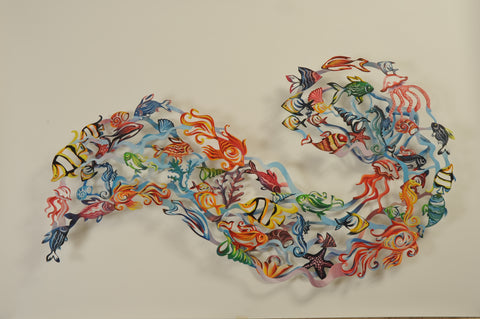 Fish - wall sculpture