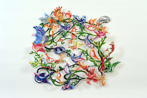 Love Birds - wall sculpture