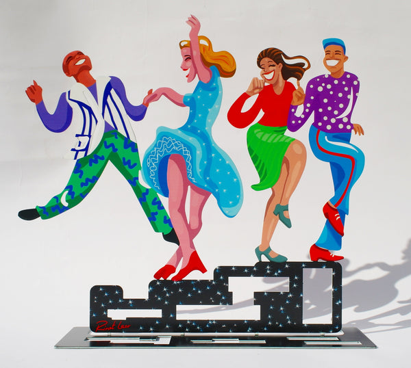 All together now - dancers' sculpture - Joyart gallery - 1