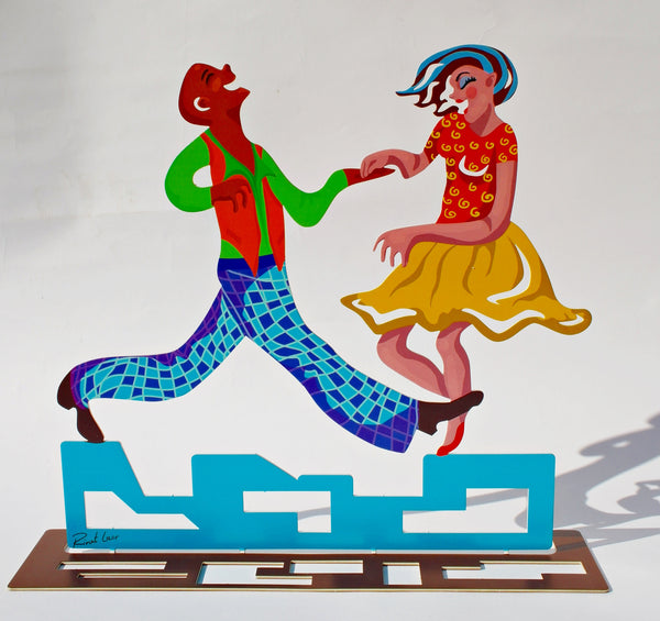 Let's Rock & Roll - dancers metal artwork - joyart gallery - 1