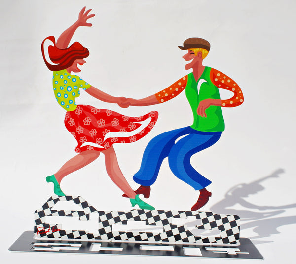 Let's dance - dancers metal artwork - joyart gallery - 1
