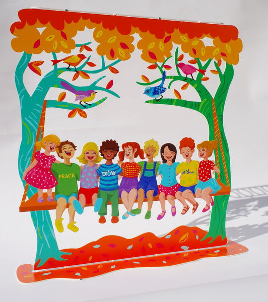 The Children of the World Hanukkiayh (Hanukkah Menorah) - joyart gallery - 1