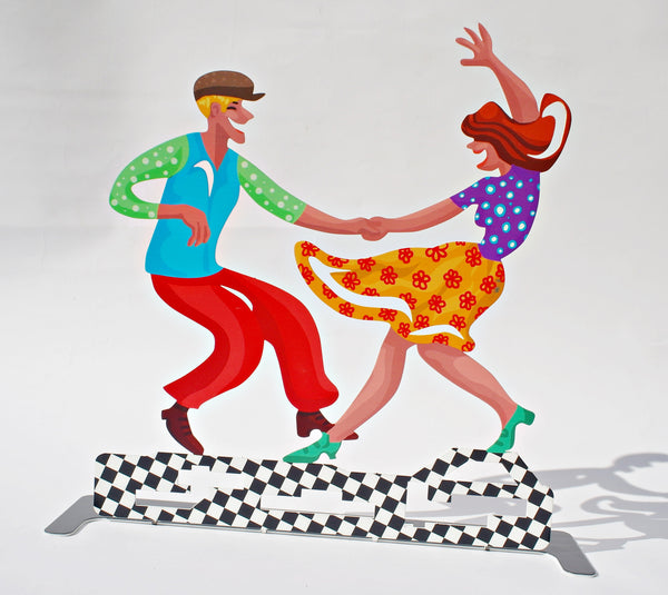 Let's dance - dancers metal artwork - joyart gallery - 2