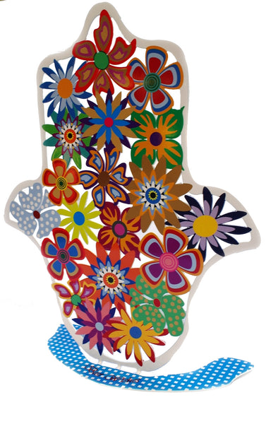 Decorative Floral Hamsa - joyart gallery - 2