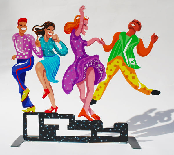 All together now - dancers' metal artwork - joyart gallery - 2