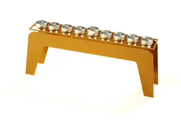 Fine Hanukkah Menorah - decorative metal art menorah - joyart gallery - 2