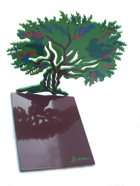 Olive Tree Bookends - Colored artistic bookend - joyart gallery - 2