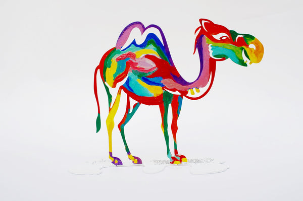 Desert Camel - small metal sculpture -joyart gallery - 5