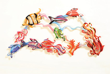 Medium Fish wall art (sculpture) - joyart gallery - 2