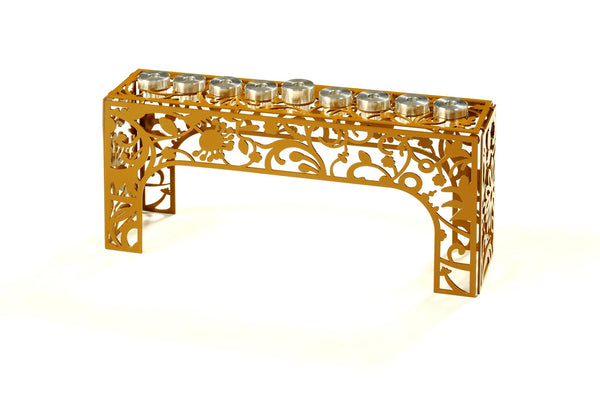Flowers Menorah - metal art Hanukkah menorah - joyart gallery - 2
