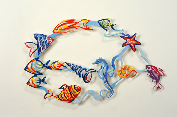 Medium Fish Wall  Art 22 - metal wall art - joyart gallery - 1