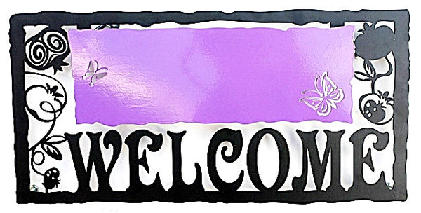 Welcome Sign - Purple - joyart gallery - 1