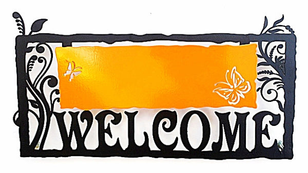 Metal Welcome Sign - Orange - joyart gallery