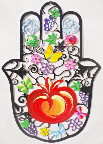 Black Pomegranate Hamsa - joyart gallery - 1
