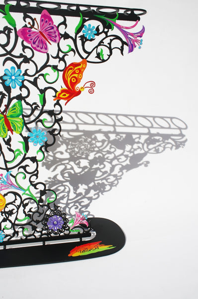 The Flowers & Butterflies Hanukkiayh (Hanukkah Menorah) - joyart gallery - 6