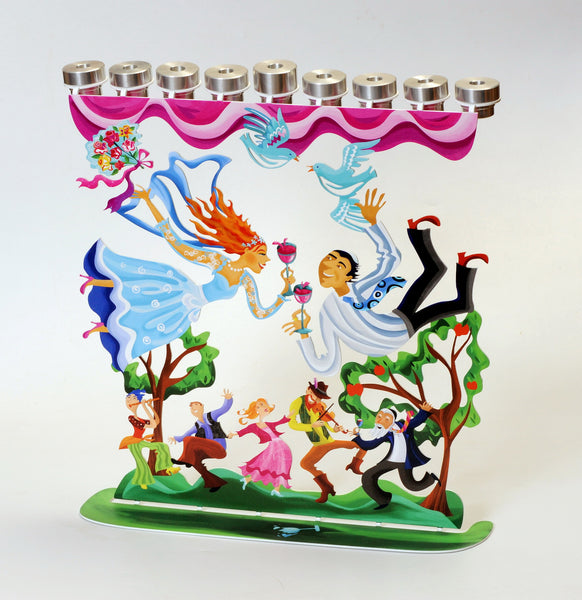 The Wedding Menorah (Hanukkyah) - joyart gallery - 1