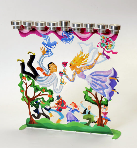 The Wedding Menorah (Hanukkyah) - joyart gallery - 2