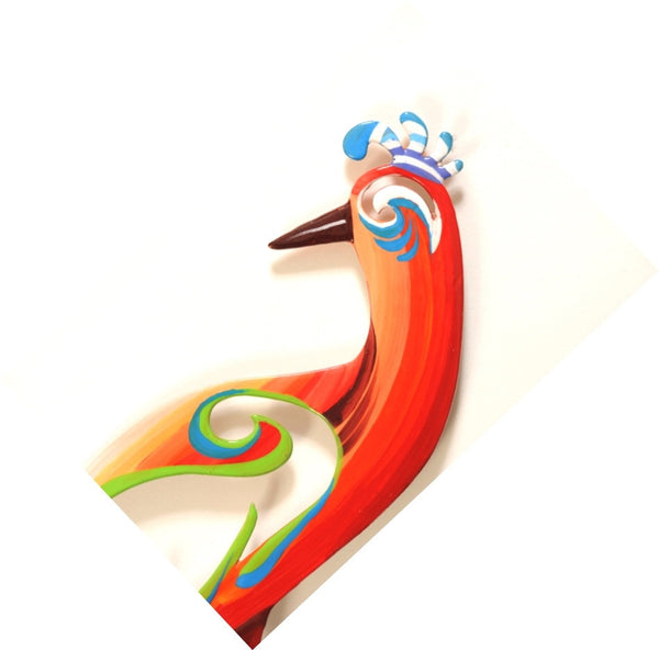 Medium Wall Birds 11 - metal wall sculpture - joyart gallery - 2