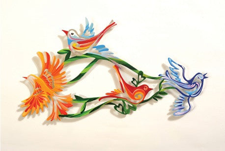 Medium Wall Birds 22 - metal wall artwork -  joyart gallery - 1