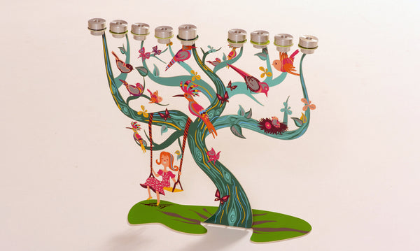 The Birds Menorah (Hanukkah Menorah) - joyart gallery - 1