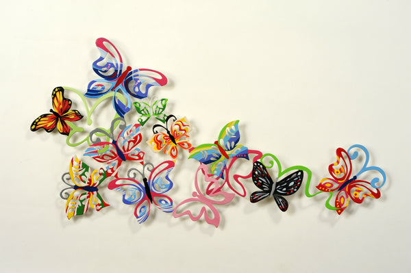 Medium Wall Butterflies 11 - metal wall artwork - joyart gallery - 1