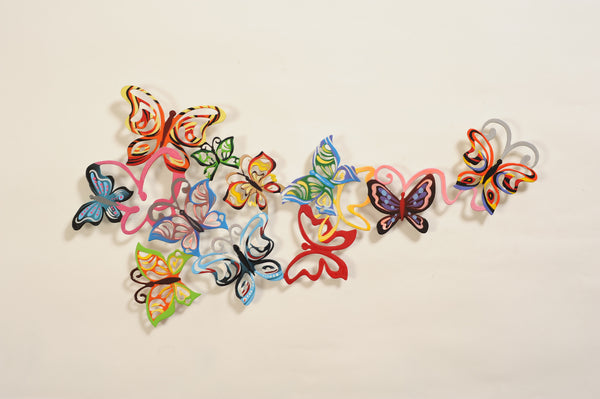 Medium Wall Butterflies 11 - metal wall art from Israel - joyart gallery - 4