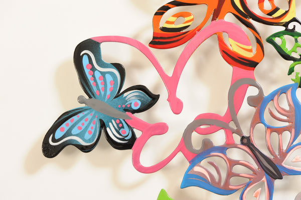 Medium Wall Butterflies 11 - metal wall sculpture - joyart gallery - 3