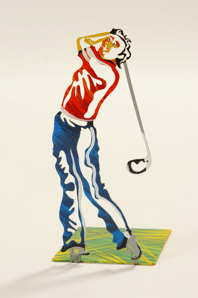 Colored Golfer Bookend - sports themed bookend - joyart gallery - 1