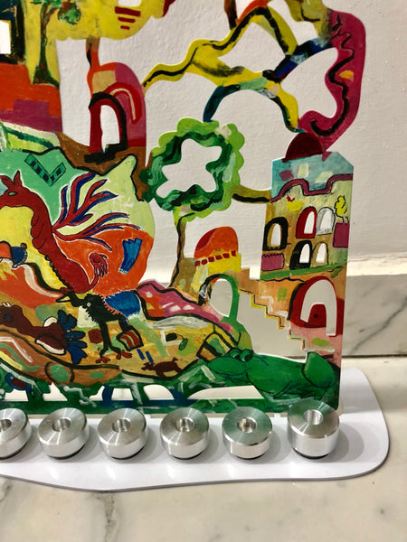 My Beautiful Jerusalem Hanukkah Menorah