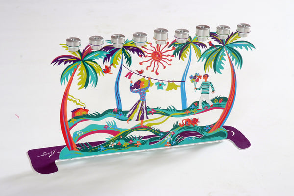 The Palm Trees Menorah (Hanukkiayh) - joyart gallery - 2