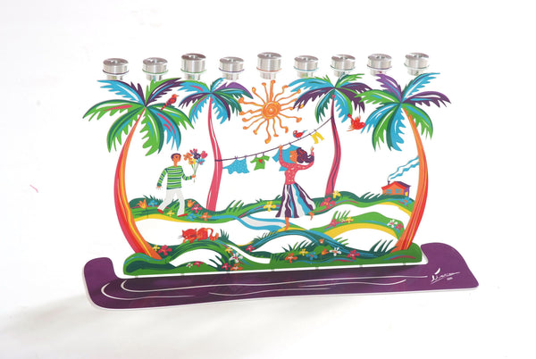 The Palm Trees Hanukkiayh (Hanukkah Menorah) - joyart gallery - 1