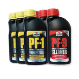 3 x Powerflush PF-1 Inhibitor & 3 x Powerflush PF-3 Cleaner - 500ml