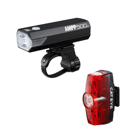 Cateye AMPP 500/Rapid Mini Light Set - 500/25 Lumen