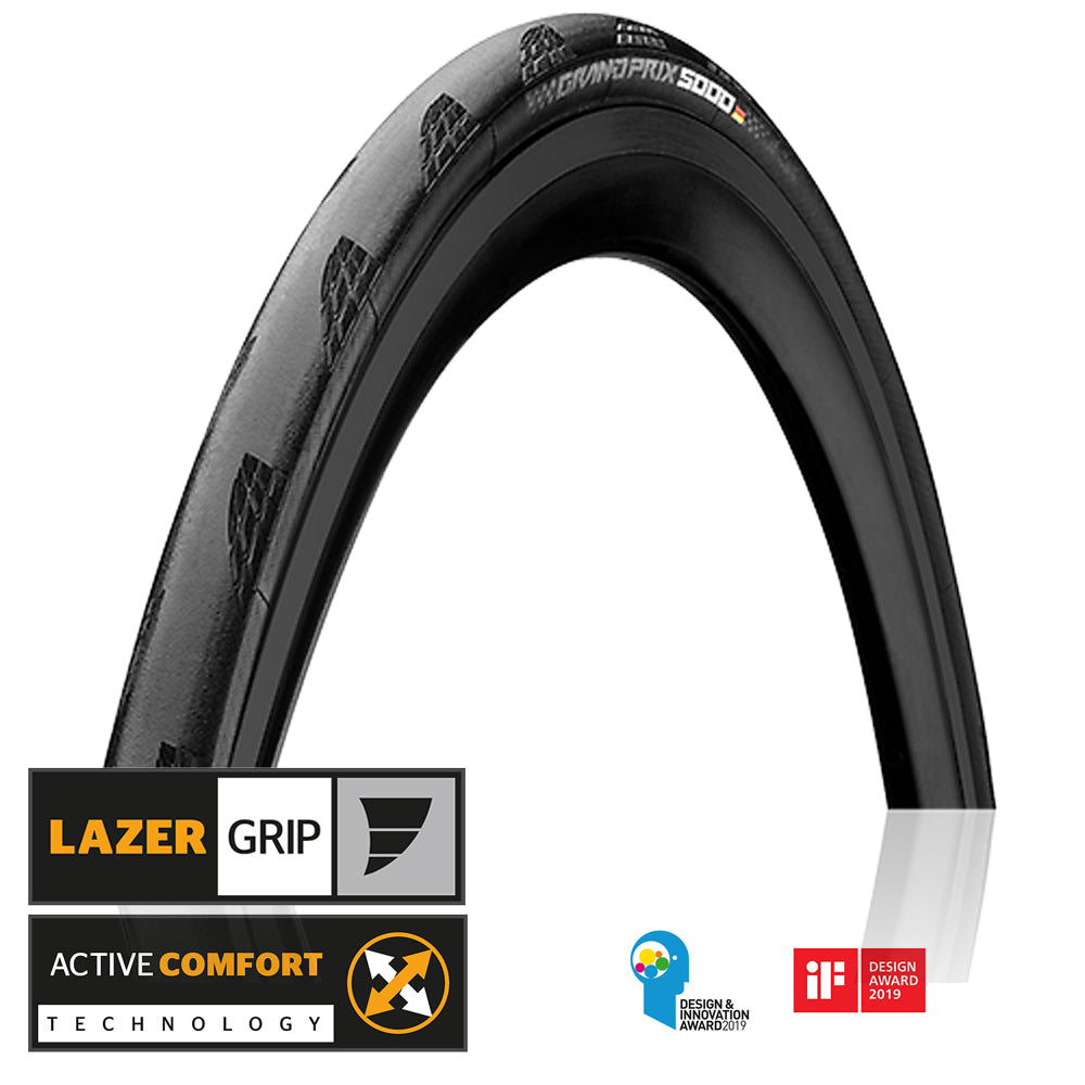 Continental GP 5000 Road Clincher Tires (Pair) - Folding