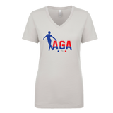 AGA Gymnastics Ladies V-Neck T-Shirt