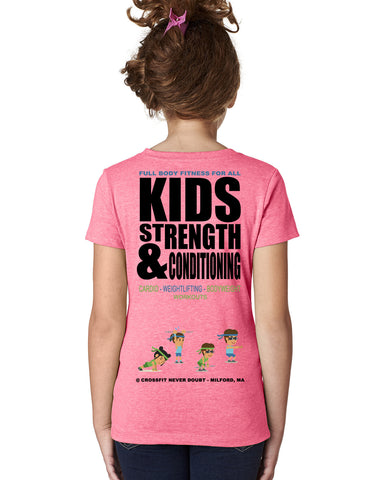 CrossFit NeverDoubt Kid Monster Girl's T-Shirt