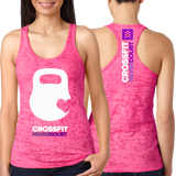 CrossFit NeverDoubt Kettle Heart Ladies Tank Top